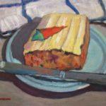 "Robert Gonsowski, Carrot Cake, 16""x20"", Oil on canvas, $640"