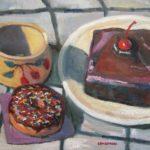 "Robert Gonsowski, Cherries Jubilee, 16""x20"", Oil on canvas, $640"