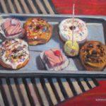 "Robert Gonsowski, Dessert Tray, 18""x24"", Oil on canvas, $860"