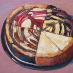 "Robert Gonsowski, Dessert for Three, 12""x24"", Oil on canvas, $600"