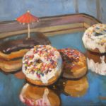 """Robert Gonsowski, Double Donuts, 16""""x20"""", Oil on canvas, $640"""