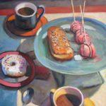 "Robert Gonsowski, Double Decker, 24""x20"", Oil on canvas, $900"