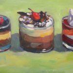 "Robert Gonsowski, Line Up, 12""x24"", Oil on canvas, $600"