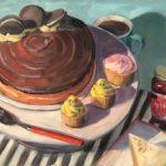 """Polly LaPorte, Oreo Cake, 18""""x24"""", Oil on board, $860"""