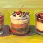 "Polly LaPorte, Parfaits, 12""x24"", Oil on canvas, SOLD"