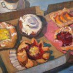 "Robert Gonsowski, Pastry Box, 24""x30"", Oil on canvas, $1,100"