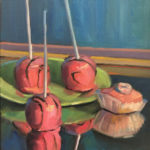 """Polly LaPorte, Reflecting, 11""""x14"""", Oil on canvas, $300"""