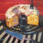 "Robert Gonsowski, Ring Cake, 16""x20"", Oil on canvas, $640"