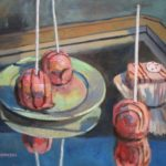 "Robert Gonsowski, Skaters, 16""x20"", Oil on canvas, $640"