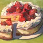 "Polly LaPorte, Strawberry Shortcake, 16""x20"", Oil on canvas, $640"