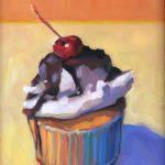 "Polly LaPorte, Sundae Cupcake, 9""x12"", Oil on board, $250"