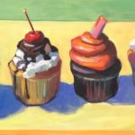 """Polly LaPorte, Sweet Suspects, 12""""x24"""", Oil on canvas, $600"""