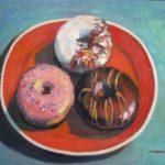 "Robert Gonsowski, Trio, 16""x20"", Oil on canvas, $640"