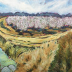 """Patrick Cosgrove, Almond Orchard in Bloom, Oil on canvas, 30""""x24"""", $1900"""