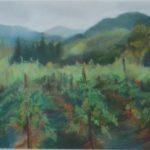 "Dorathea DeSimone, The Vines, Pastel on paper, 11""x14"", $1200"