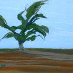 """Claire Haag, Valley Oak, Acrylic on canvas panel, 11""""x14"""", $250"""