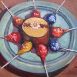 """Robert Gonsowski, Time for Pops, Oil on canvas, 14""""x18"""" framed, $500"""